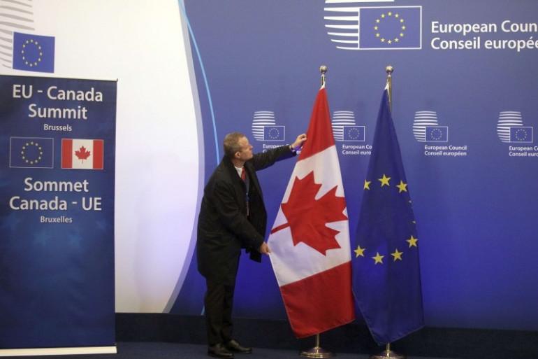 La préparation d'un sommet UE-Canada, le 30 octobre 2016