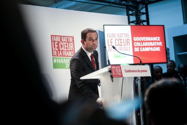 Benoît Hamon, candidat socialiste à la présidentielle 2017