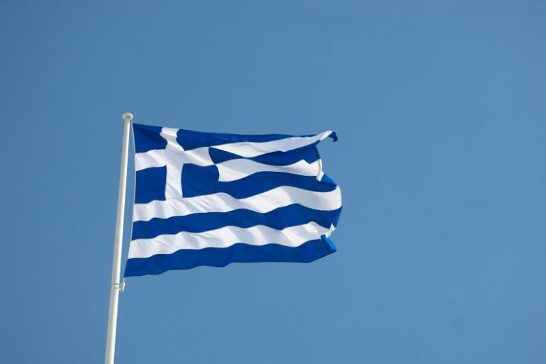 Un drapeau grec (illustration)