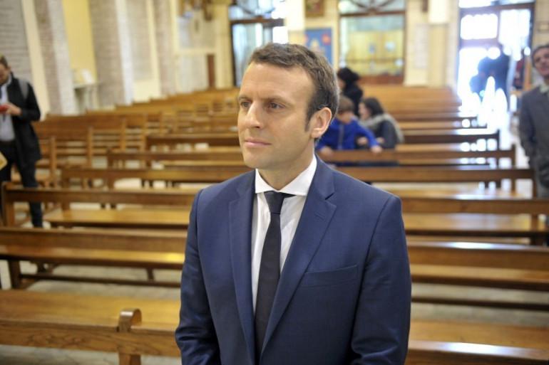 Emmanuel Macron à Alger, le 14 février 2017