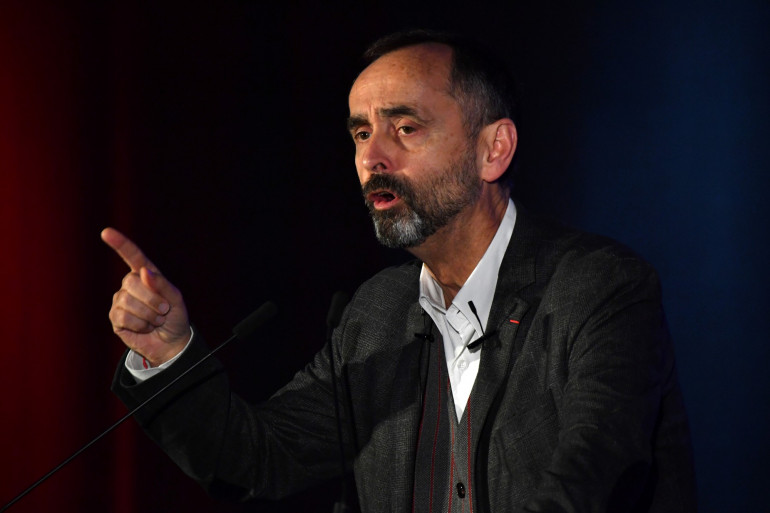 Robert Ménard, maire de Béziers, lors d'un meeting du Rassemblement national à Sète, le 22 janvier 2020.