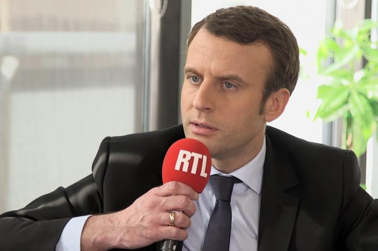 Emmanuel Macron, invité de RTL soir le 16 février 2017