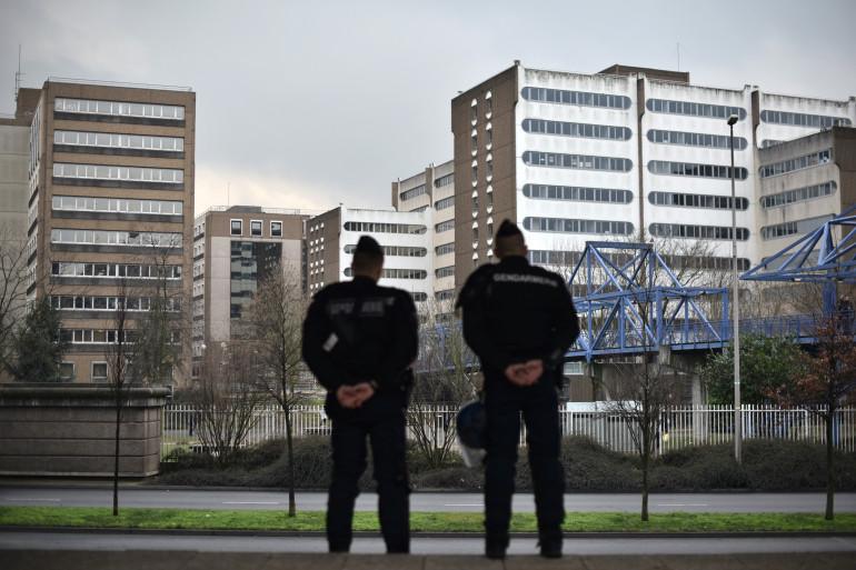 Des gendarmes à Bobigny, le 16 février 2017