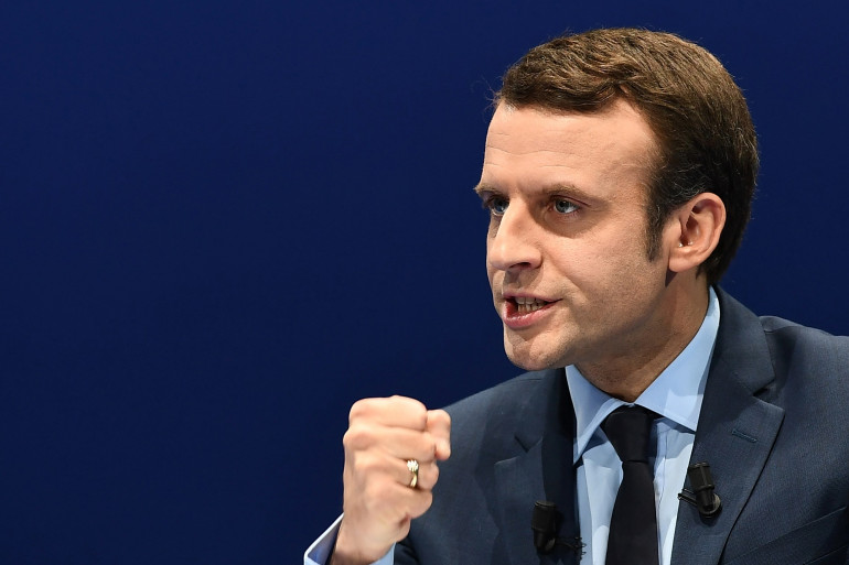 Emmanuel Macron lors d'un meeting à Toulon (Var), le 18 février 2017.