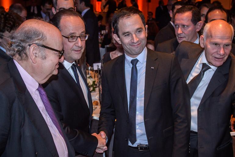 François Hollande et Benoît Hamon, le 22 février 2017
