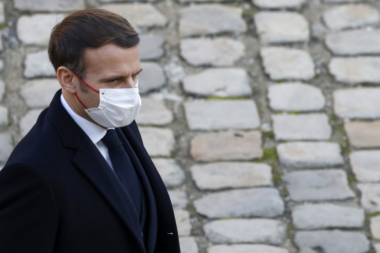 Emmanuel Macron lors de l'hommage à Daniel Cordier, le 26 novembre 2020