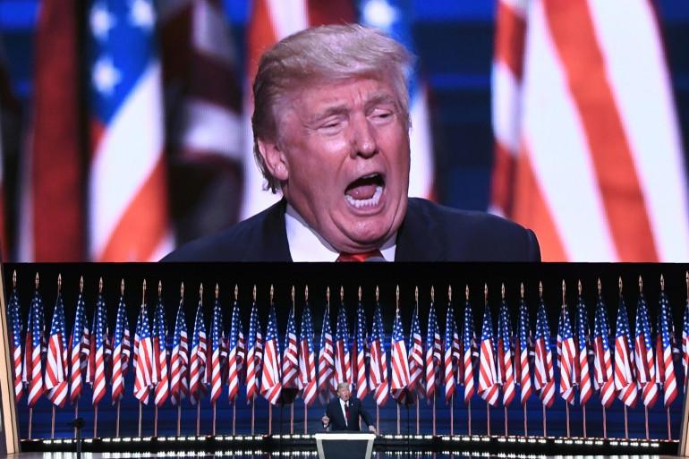 Donald Trump, le 21 juillet 2016 lors de son investiture par le parti républicain