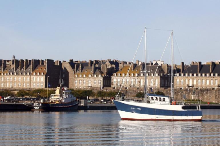 Une vue de Saint-Malo (Illustration)