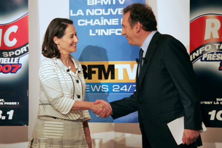 Ségolène Royal et François Bayrou pendant l'entre-deux tours, le 28 avril 2007