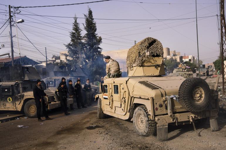 L'armée irakienne à Mossoul-Est, le 10 janvier 2017