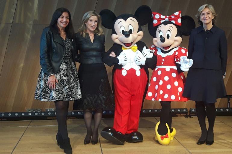 Anne Hidalgo et Valérie Pécresse à Disneyland Paris.