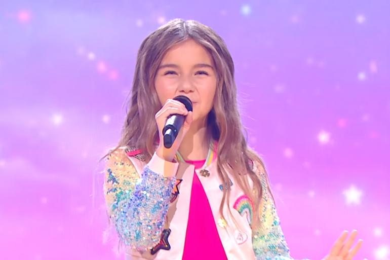 Valentina lors de sa performance à l'Eurovision Junior, le 29 novembre 2020