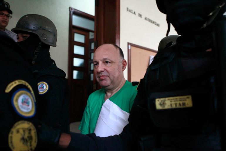 Christophe Naudin, au tribunal de Saint-Domingue en juin 2016