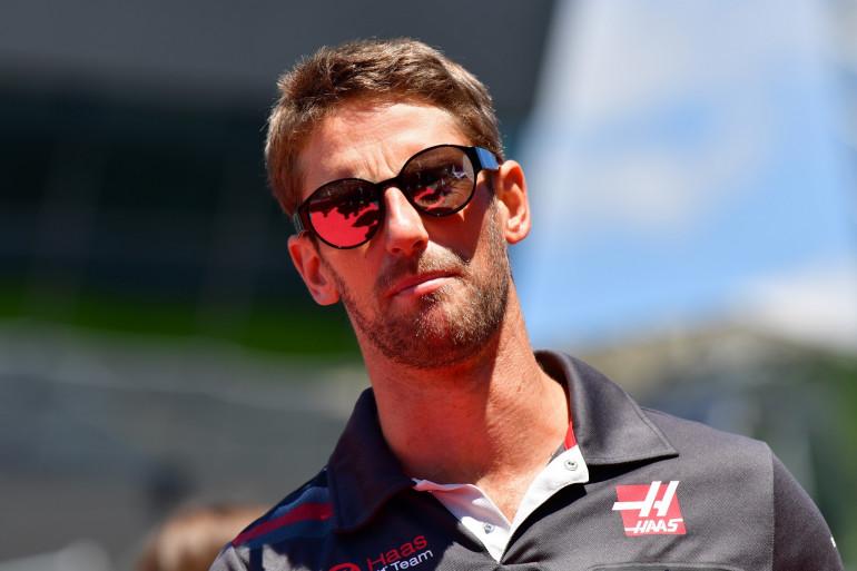 Romain Grosjean le 1er juillet 2018 à Spielberg