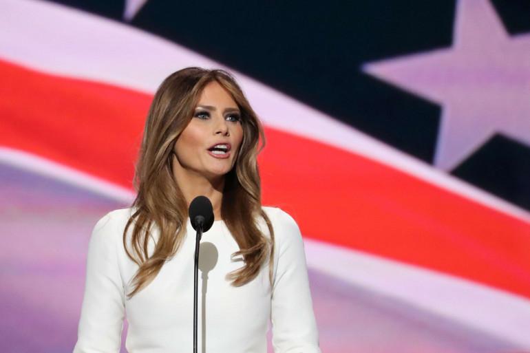 Melania Trump lors de la convention nationale républicaine le 19 juillet 2016