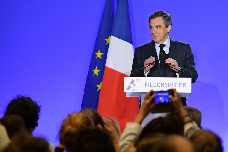 François Fillon, le 1er mars 2017 à son QG de campagne
