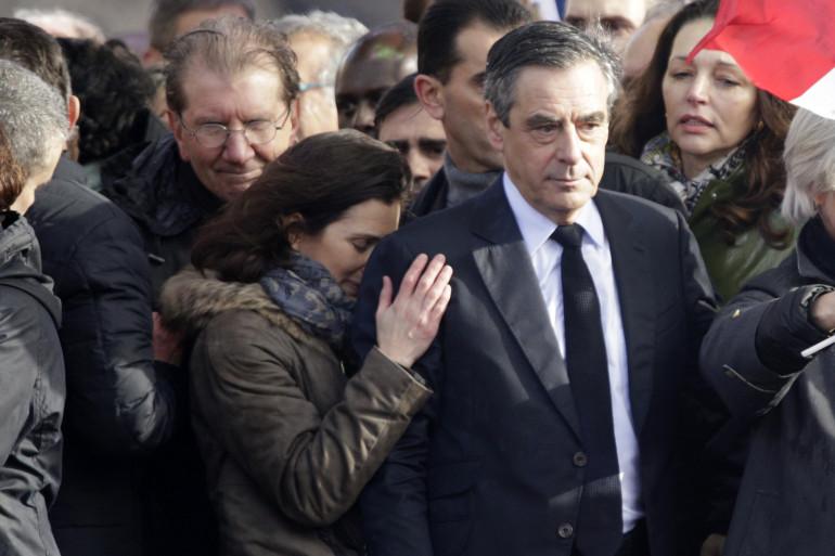 François Fillon au Trocadéro dimanche 5 mars.
