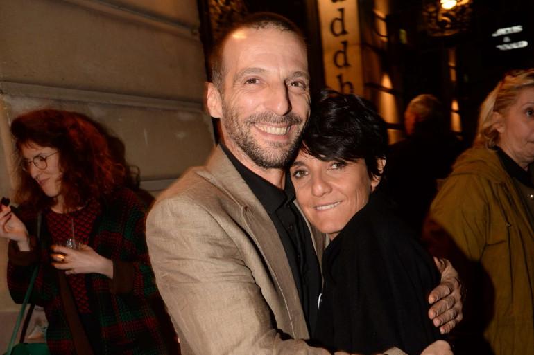 """Florence Foresti et Mathieu Kassovitz à l'avant première du film """"De Plus Belle"""" le 7 mars à Paris."""