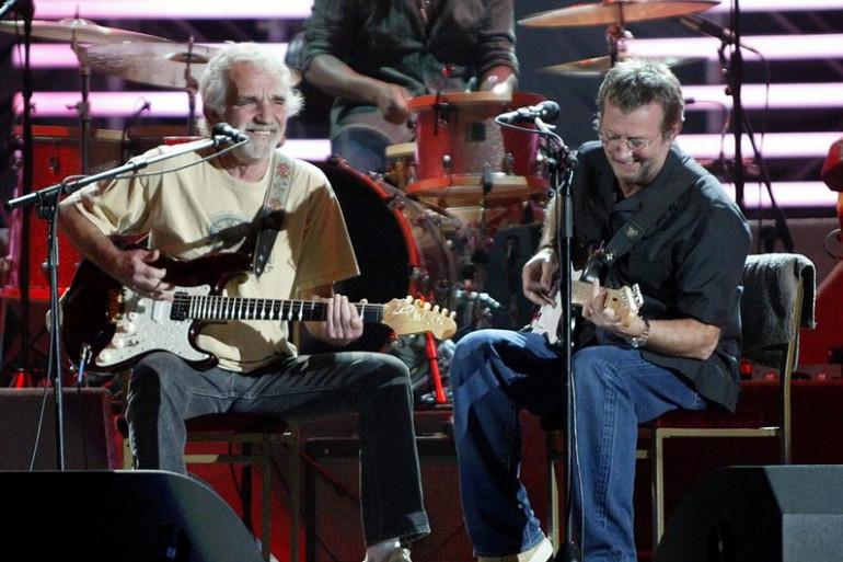 """Eric Clapton et J.J. Cale lors du concert """"Live in San Diego"""""""