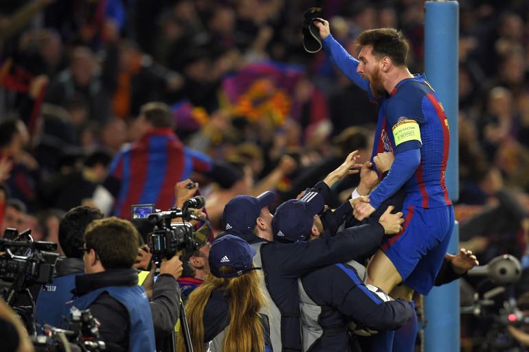 Lionel Messi face au PSG, le 8 mars 2017