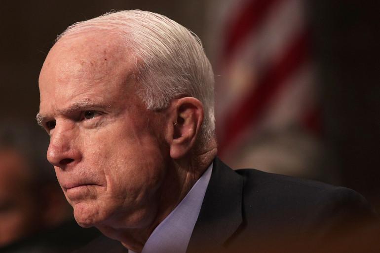 Le sénateur républicain John McCain,le 9 février 2017