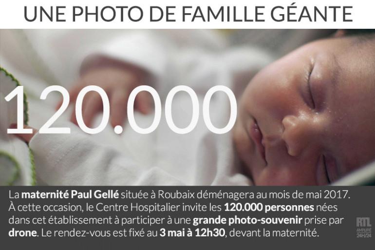 Une maternité de Roubaix organise une photo-souvenir géante