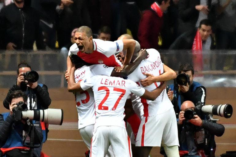 La joie des joueurs de l'AS Monaco contre Manchester City