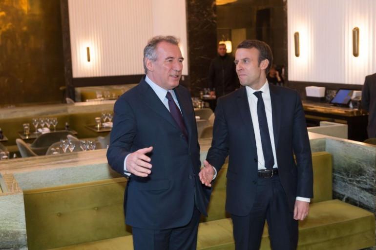 François Bayrou et Emmanuel Macron le 23 février à Paris