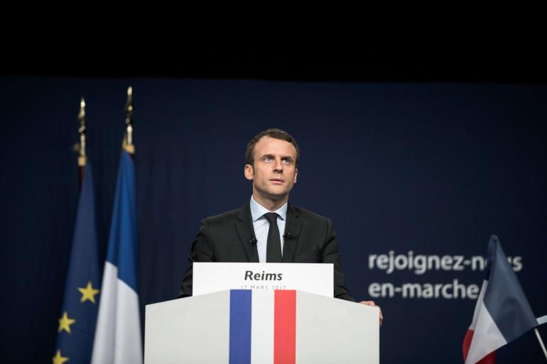 Emmanuel Macron à Reims le 18 mars 2017.