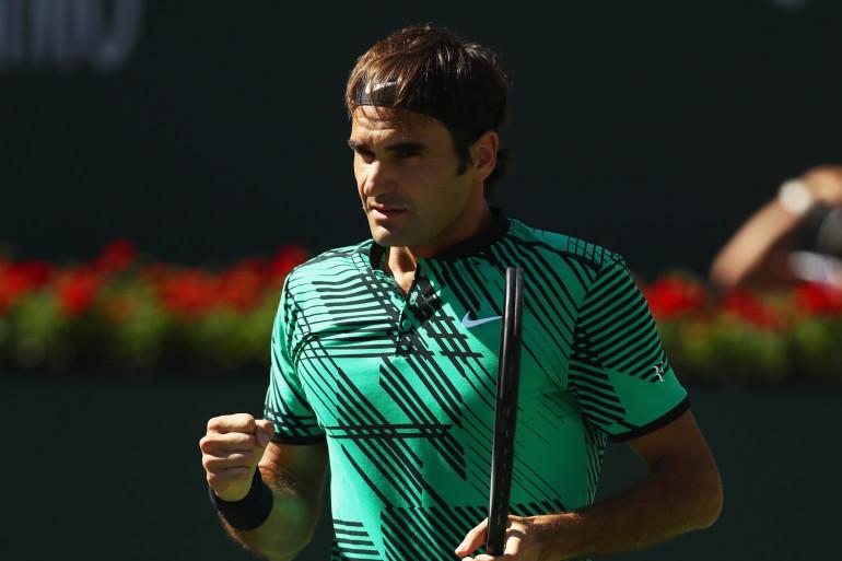 Roger Federer lors de la finale du Masters 1000 d'Indian Wells le dimanche 19 mars