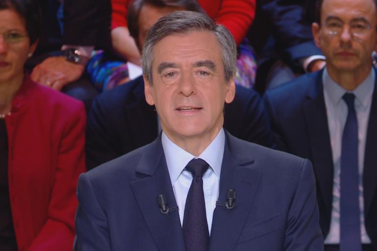 François Fillon, le 20 mars lors du premier débat présidentiel