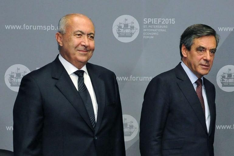 L'homme d'affaires libanais Fouad Makhzoumi et François Fillon, le 19 juin 2015 à Saint-Pétersbourg