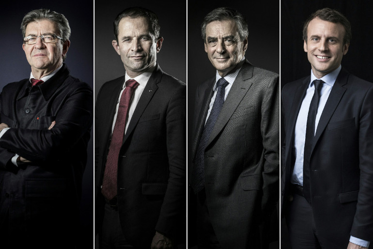 Jean-Luc Mélenchon, Benoît Hamon, François Fillon et Emmanuel Macron, invités du Grand Débat de la Fondation des Femmes