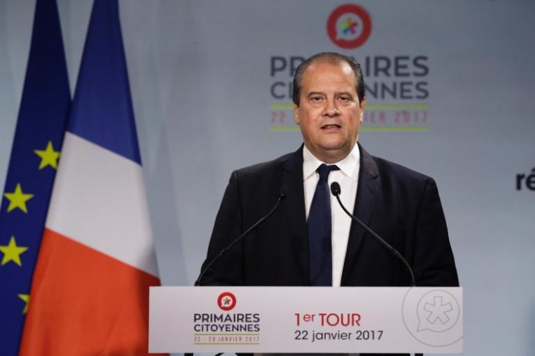 Jean-Christophe Cambadélis, premier secrétaire du Parti socialiste, au soir du premier tour de la primaire de la Belle Alliance populaire dimanche 22 janvier 2017.