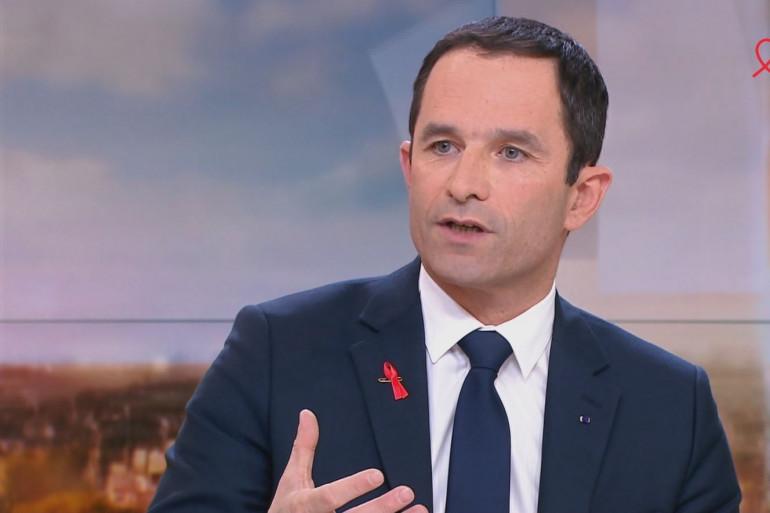 Benoît Hamon sur France 2 le 26 mars 2017.