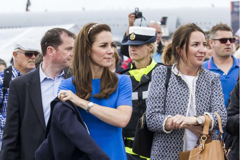 Kate Middleton et son ex-assistante Rebecca Deacon ici en juillet 2016