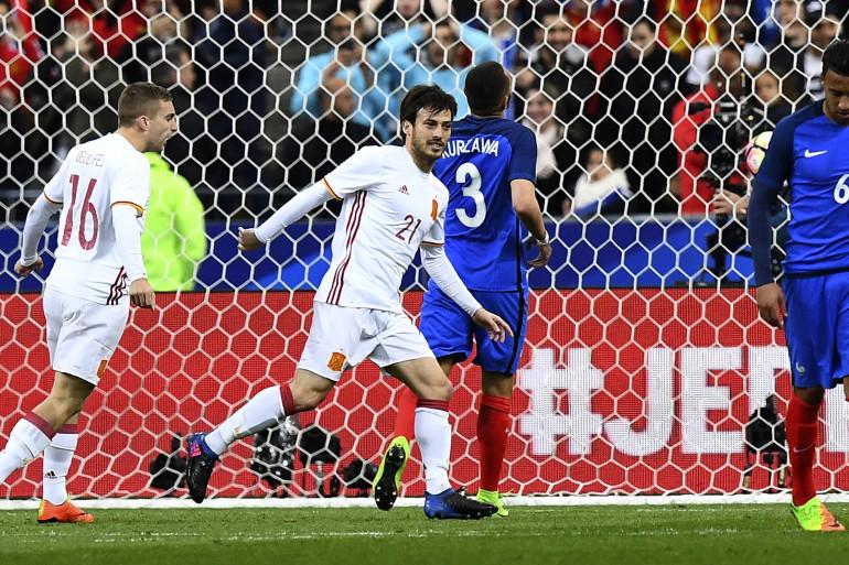 L'Espagnol David Silva face à la France le 28 mars 2017