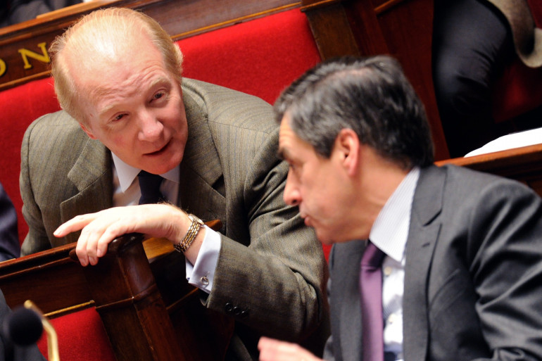 Brice Hortefeux et François Fillon à l'Assemblée nationale en décembre 2010