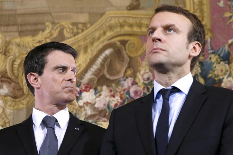 Manuel Valls et Emmanuel Macron, le 8 févier 2016