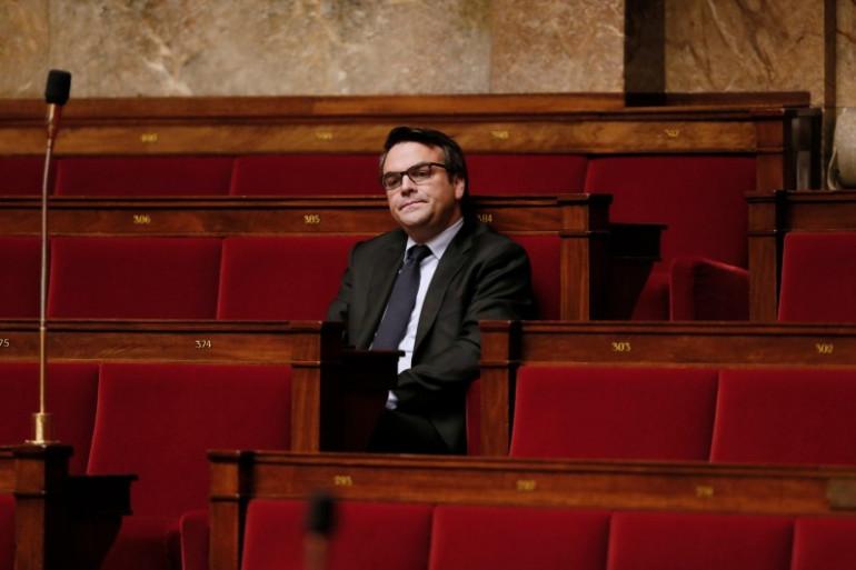 Thomas Thévenoud sur les bancs de l'Assemblée nationale