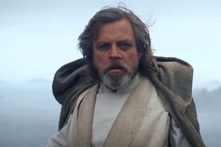 """Luke Skywalker lors de la scène finale de """"Star Wars 7"""""""