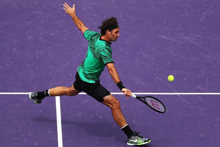 Roger Federer en finale du Masters 1000 de Miami face à Nadal le 2 avril 2017