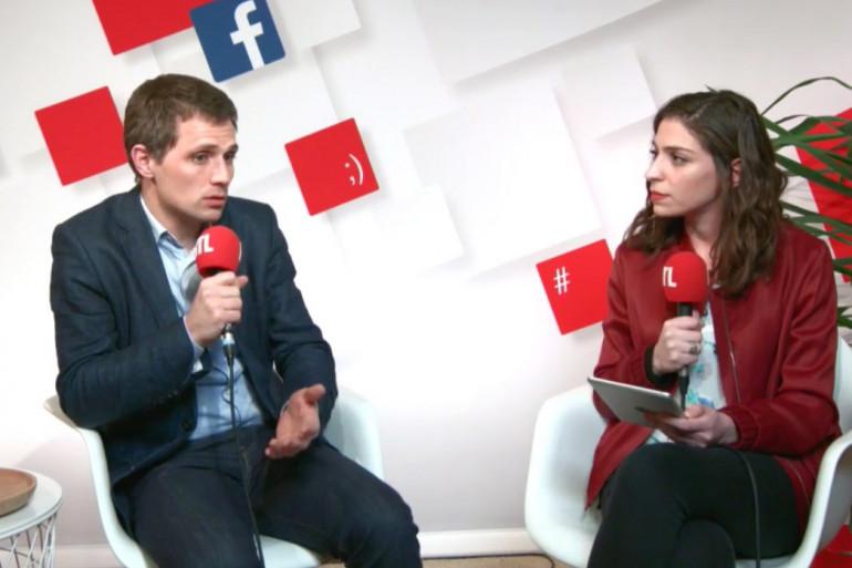 Jérôme Chapuis et Marie-Pierre Haddad dans le social studio RTL, le 6 avril 2017