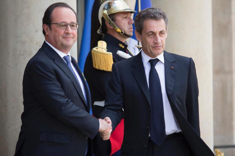François Hollande et Nicolas Sarkozy à l'Élysée, le 25 juin 2016