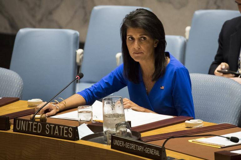 L'ambassadrice américaine à l'ONU, Nikki Haley, le 5 avril 2017