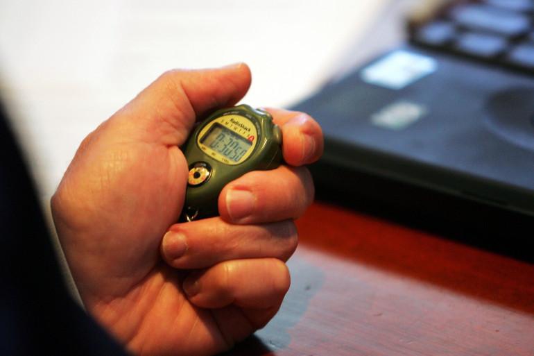 Un chronomètre (illustration)