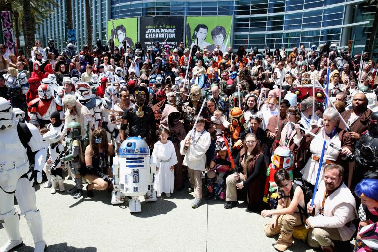 Des fans à la Star Wars Celebration de 2015