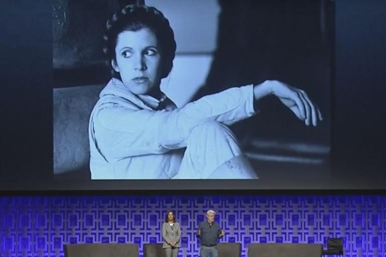 George Lucas sur la scène de la Star Wars Celebration 2017