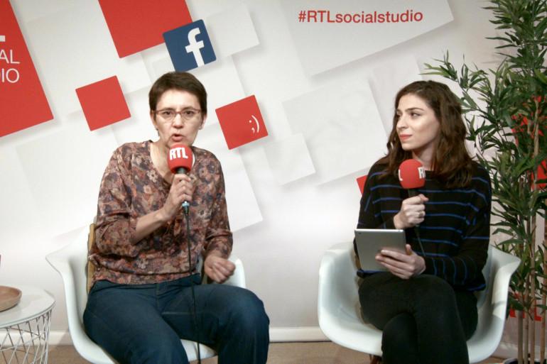 Nathalie Arthaud et Marie-Pierre Haddad dans le Social Studio de RTL