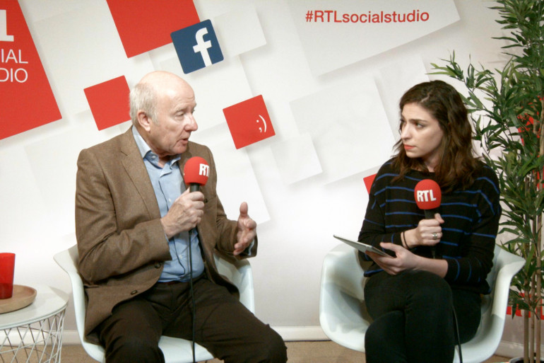 Olivier Mazerolle et Marie-Pierre Haddad dans le Social Studio de RTL